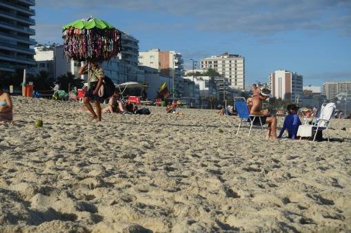 Verkäufer an der Copacabana
