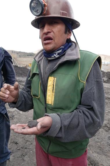 Ehemaliger Minenarbeiter als Guide