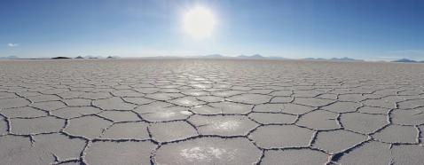 Reflexion auf dem Salz