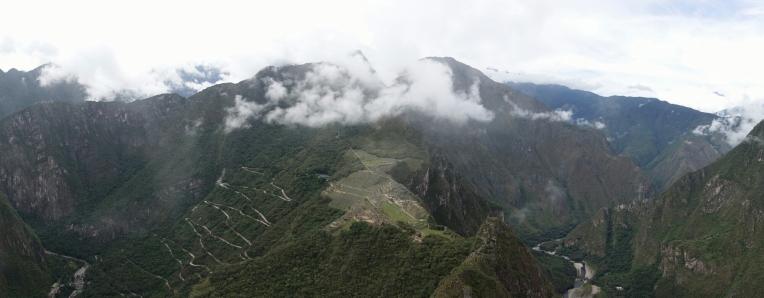 Panorama über die Inka Stätte