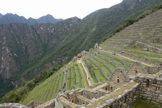 Blick über die Ruine