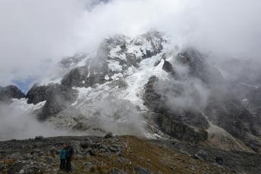 Fast freier Blick auf den Gletscher