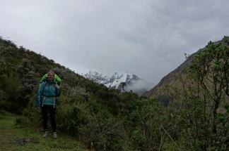 Regen überm Gletscher