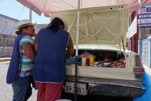 Frühstücksverkäuferinnen