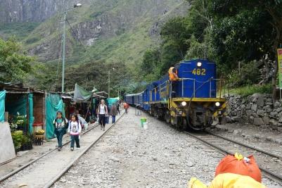 Bahn zum Machu Picchu
