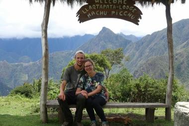 Machu Picchu im Rücken