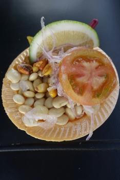 Bohnen-Nuss-Zwiebel Snack