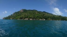 Santa Catalina vom Boot aus
