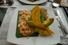 Krabben und Kokosreis